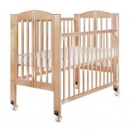 "Baby Star Huggy 摺合嬰兒木床(包括3""床褥) – 原木色 / 歐洲櫸木"