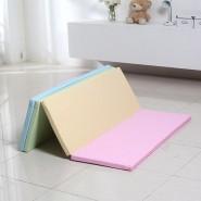 Caraz W4 加厚摺摺地墊 (200x140x4CM) (粉彩色)