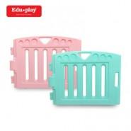Edu Play 自由組合圍欄配防滑墊 (1塊薄荷藍長板+1塊粉紅色長板)