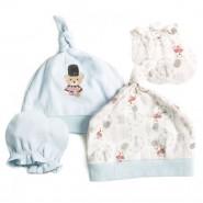 0/3 Baby 嬰兒帽及手套 (小熊騎兵)