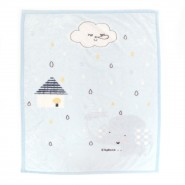 0/3 Baby 超柔毛毯 (藍色小象)
