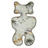 Pogmang 3D透氣呼吸嬰兒車墊 (野生動物)