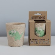 JACK N' JILL 天然竹米糠水杯 (恐龍)