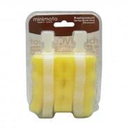 Minimoto 海綿奶瓶刷替換刷頭 (標口型) (兩個裝)
