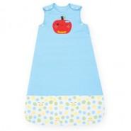 舒棉2in1嬰兒睡袍抱袋(前開拉鍊款) (蘋果)