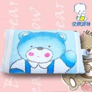 AiNON Baby 愛儂寶貝 繡花毛巾枕 (粉藍)