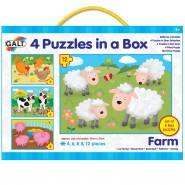 益智玩具 Galt 4 Puzzles In a Box (Farm)