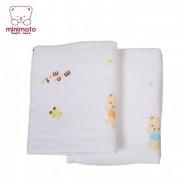 Minimoto 假日物語紗布竹纖維浴巾 (橙色)