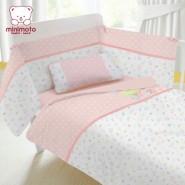 Minimoto Mini 花園系列小七件套床品套裝 (粉紅)