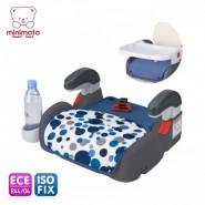 Minimoto ISO-FIX 2合1汽車安全座椅 連兩椅墊 (藍色)