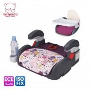 Minimoto ISO-FIX 2合1汽車安全座椅 連兩椅墊 (紫色)